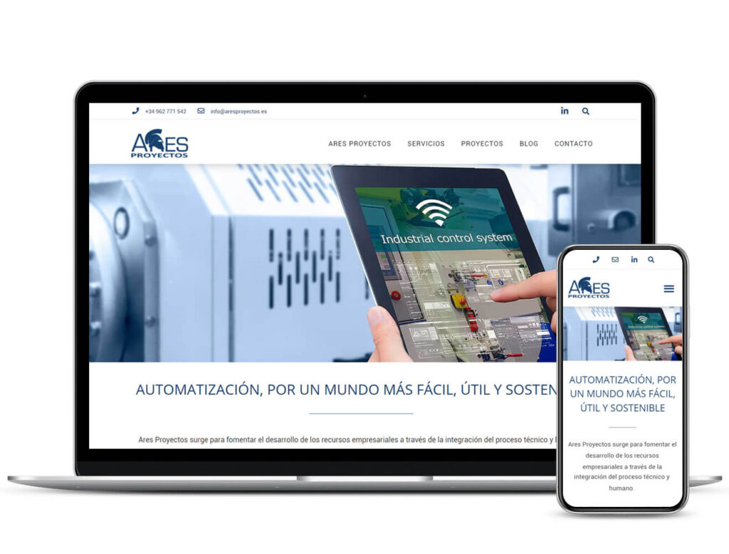 Rediseño Web corporativa Ares Proyectos