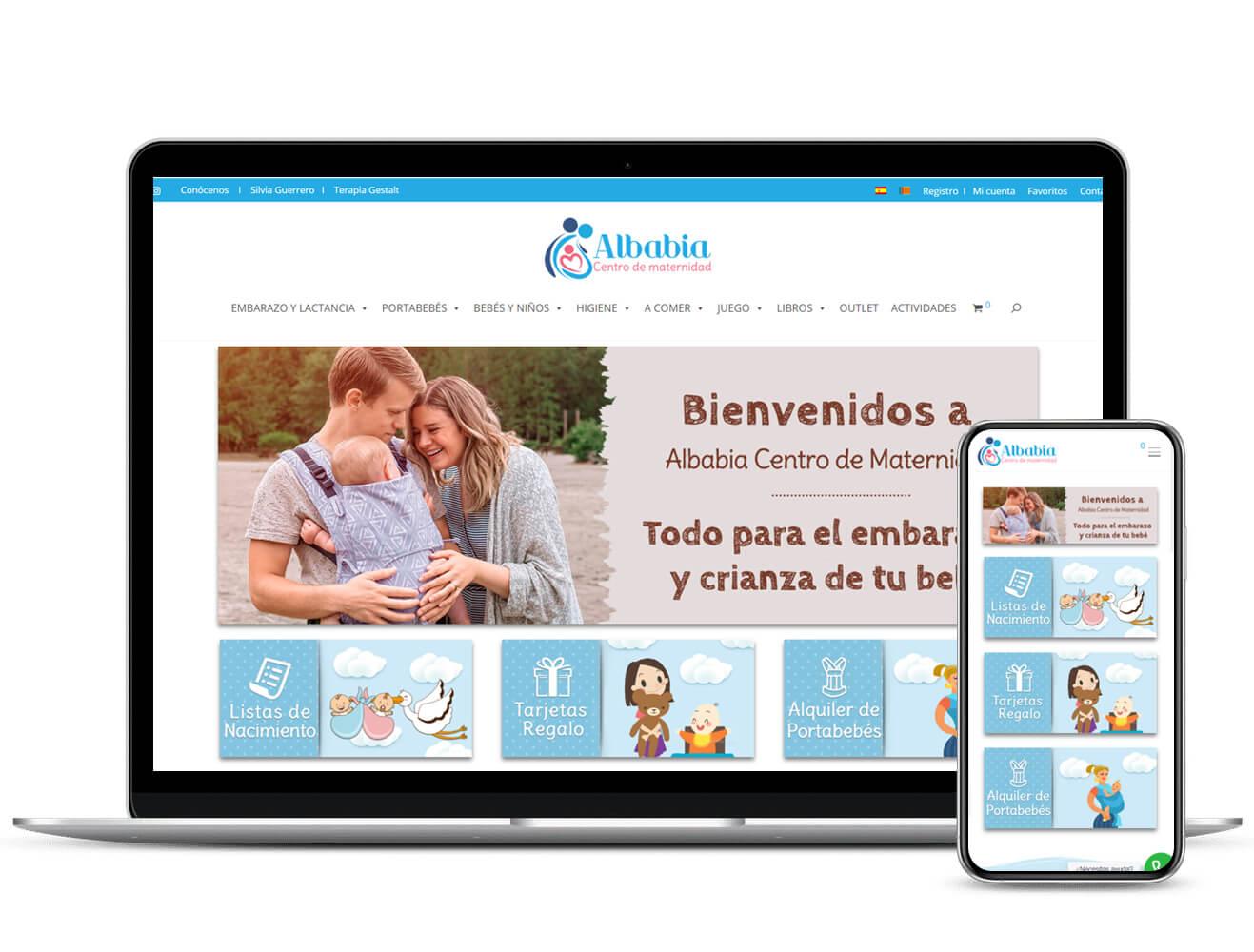 Diseño de tienda online Albabia