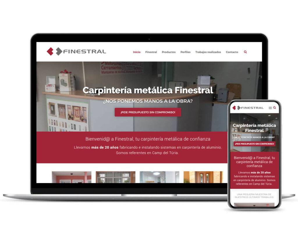 Diseño Web Carpintería Metálica Finestral