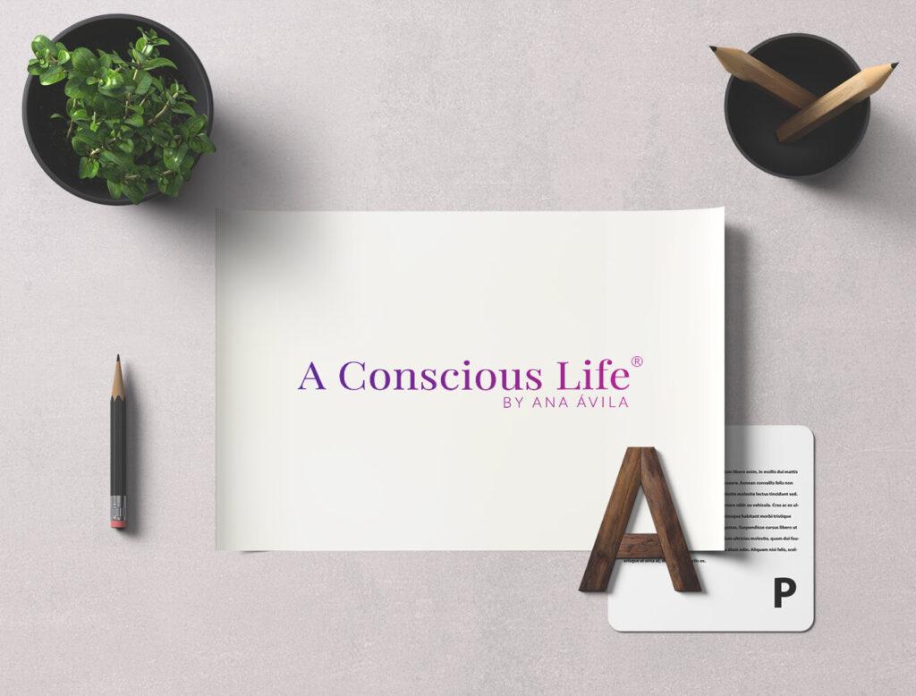 Diseño de logotipo A Conscious Life