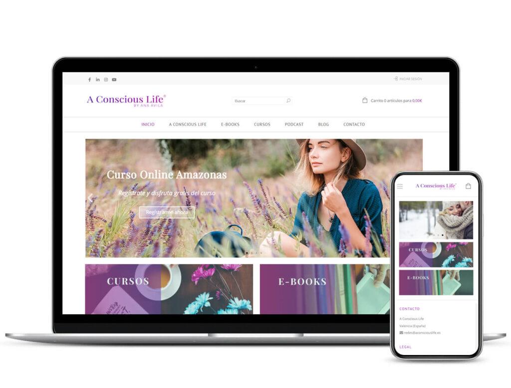 Diseño de tienda online A Conscious Life