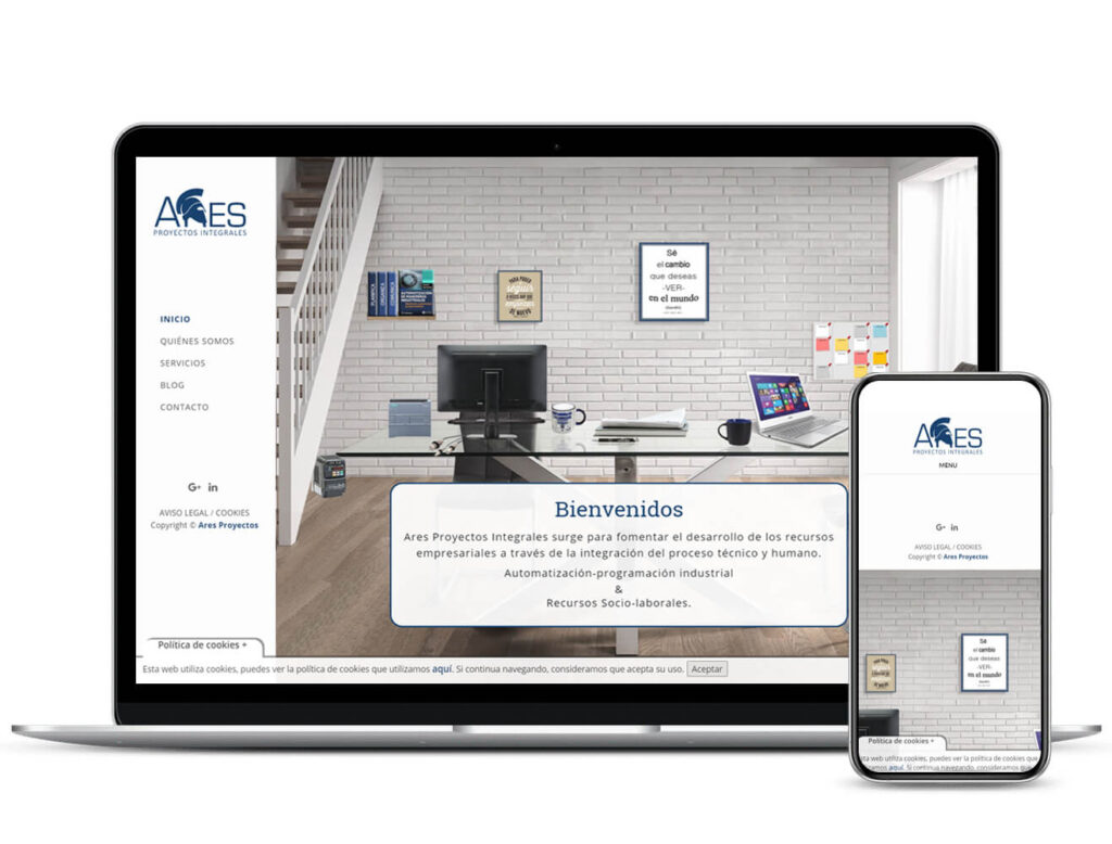 Diseño Web Ares Proyectos