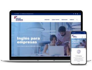 Diseño Web Hello Business Eglish School