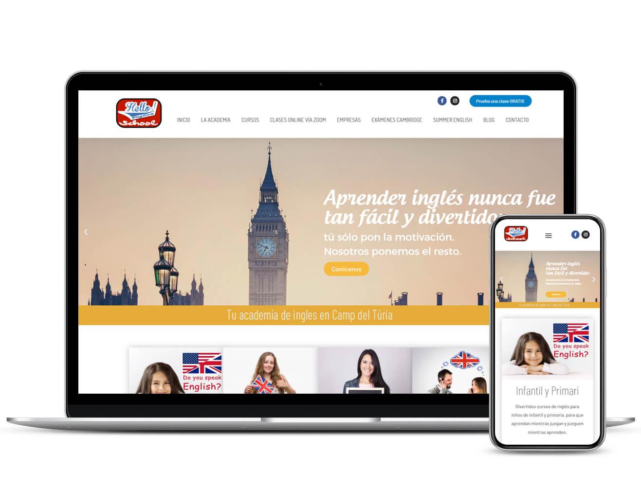 Diseño Web Hello English School