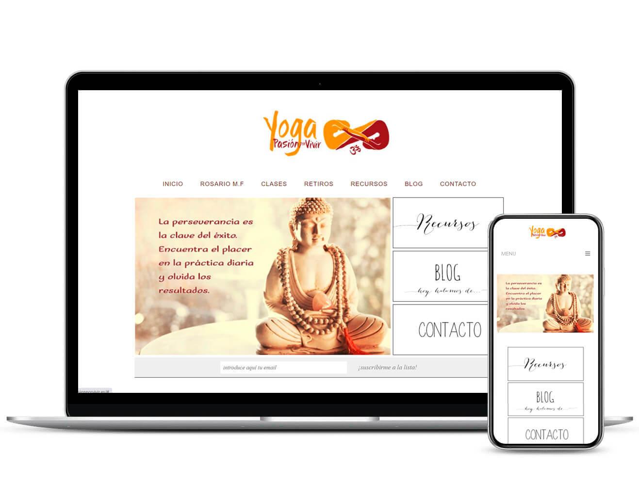 Diseño Web Yoga Pasión por Vivir