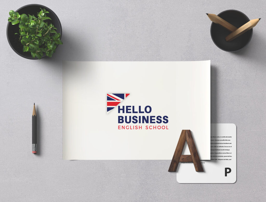 Diseño de logotipo Hello Business English School