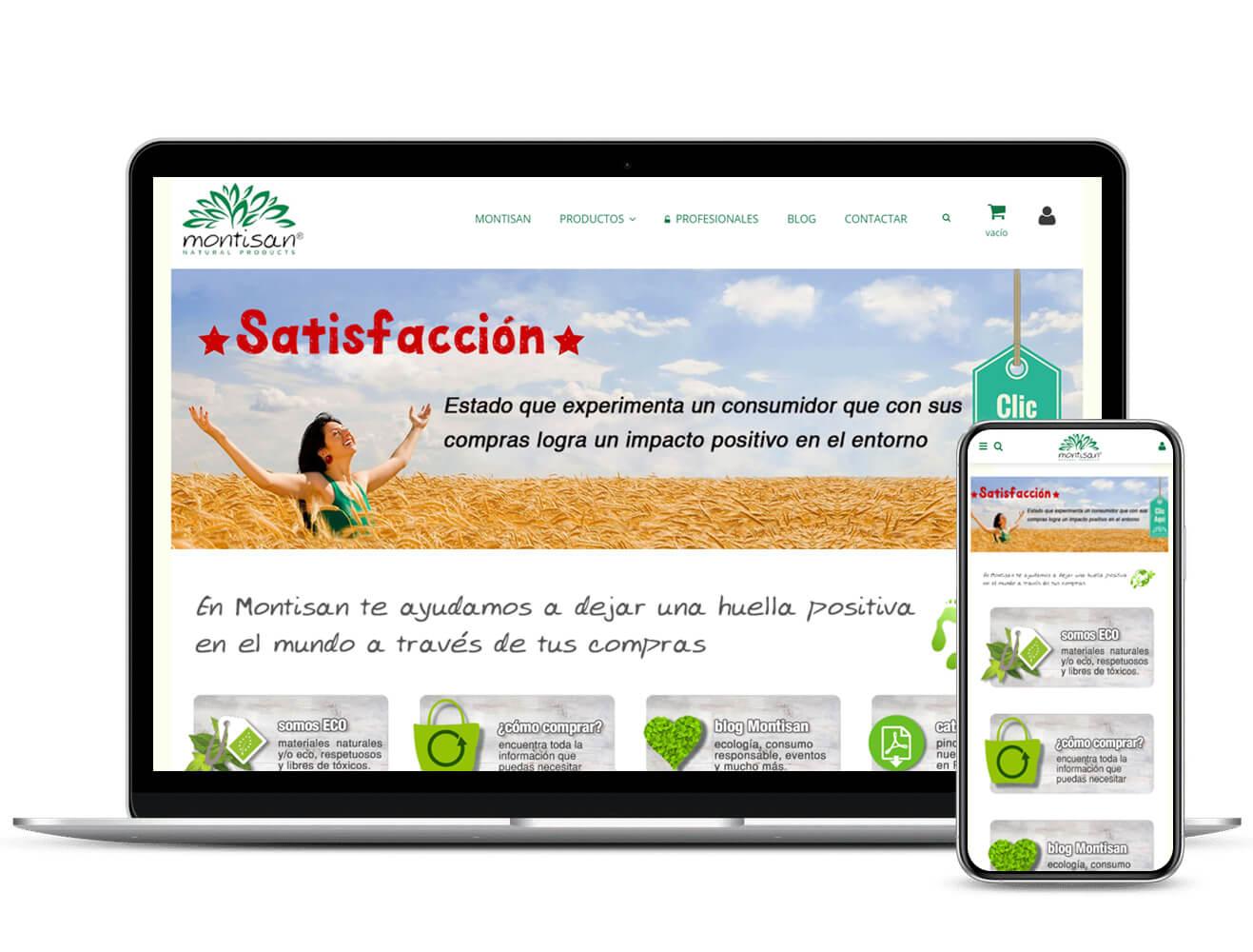 Diseño de tienda online Montisan